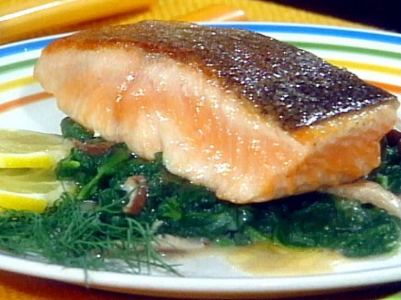 Seared salmon fillet for What to serve with fish fillets