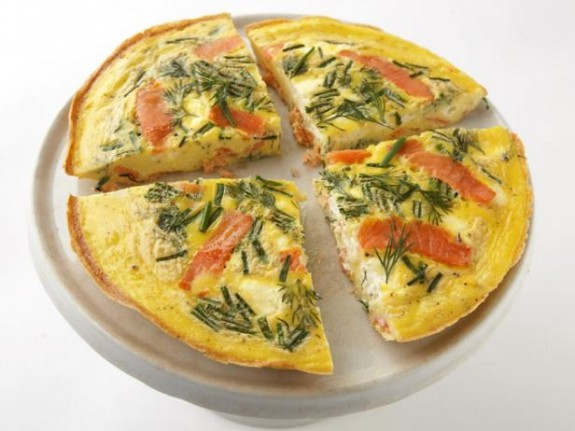 Smoked Salmon and Cream Cheese Frittata - FishRecipes.net