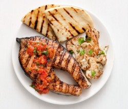 grilled salmon with tomato ginger sauce recipe type fish grilled ...