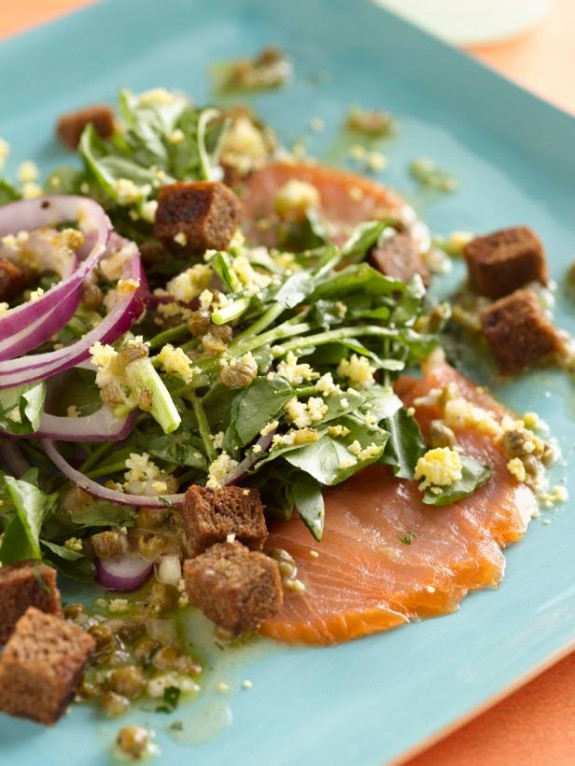 Smoked Salmon and Watercress Salad with a Lemon-Caper ...